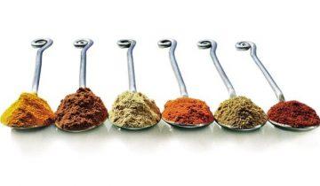 Variedades de curry con Isaan Thai Cuisine